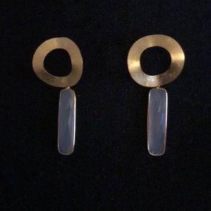 White Chalendony earrings from Crafted Tribe